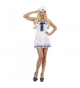 Marine Meisje Blauw / Wit Ay Ay Sir Kostuum Vrouw