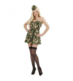 Sexy Soldate Ms Hard Attack Kostuum Vrouw