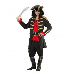 Zwarte Piraat / Kapitein Man Kostuum