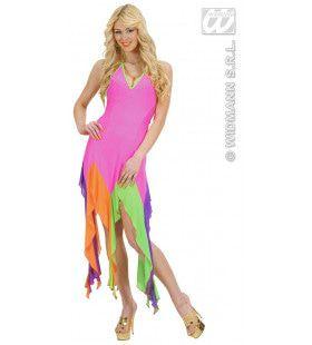 Brazilliaanse Jurk Neon Rose Serpentine Kostuum Vrouw