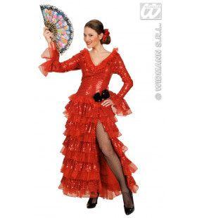 Spaanse Paillettenjurk Carmencita Princesa Flamenca Kostuum Vrouw