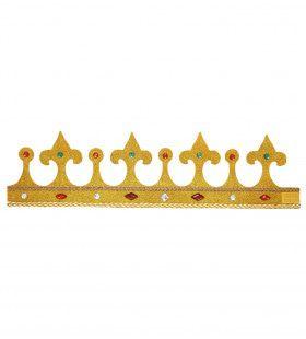 Grote Glitter Kroon Met Stenen, Buigbaar