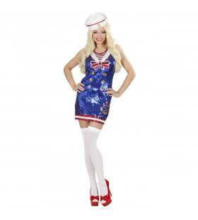 Paillettenjurk Matroosmeisje Ms Sailor Kostuum Vrouw
