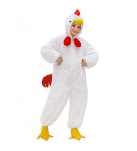 Full-Body Pluche Witte Kip Kind Kostuum Kind