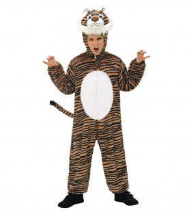 Full-Body Pluche Tijger Kind Kostuum