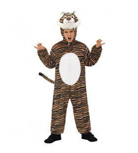 Full-Body Plushe Tijger Kind Kostuum