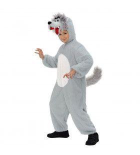 Full-Body Pluche Wolf Kind Kostuum