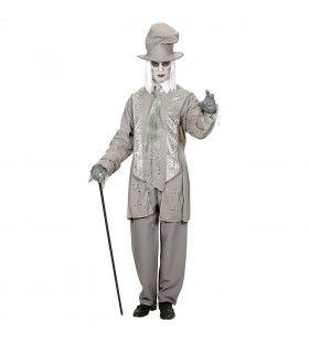 Spookachtige Heer Witte Horror Heer Man Kostuum