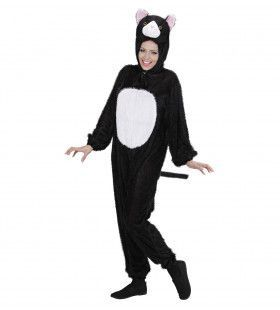 Full-Body Pluche Kat Volwassen Kostuum