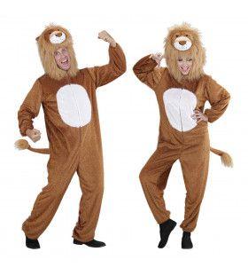 Full-Body Plushe Leeuw Volwassen Kostuum