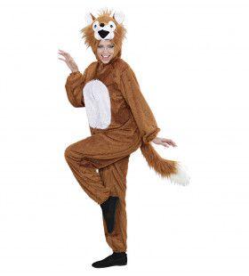 Full-Body Pluche Vos Volwassen Kostuum