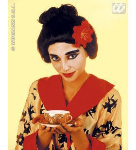 Pruik, Geisha Met Bloem
