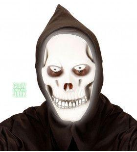 Masker Grim Reaper Met Kap, Lichtgevend In Donker Night Light