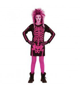 Korte Jurk Skelet Kind Rose Meisje