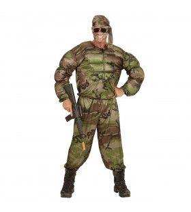 Super Soldaat Uit De Sportschool Kostuum