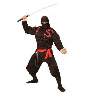 Black Super Ninja Kostuum