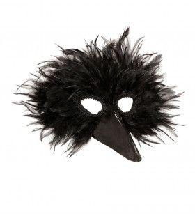 Grappig Veren Masker Vogel, Zwart