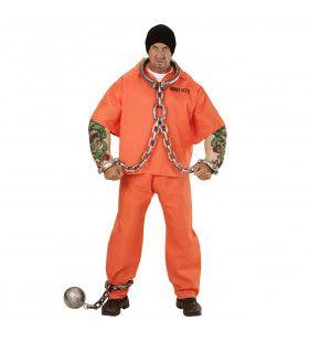 Americaanse Gevangene Met Tattoo Man Kostuum