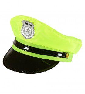 Dames Politiepet Neon Geel