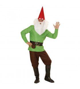Tuin Kabouter Groen Man Kostuum