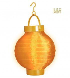 Feestelijke Lampion Met Licht 15cm, Oranje