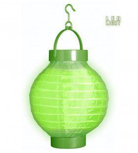 Feestelijke Lampion Met Licht 15 Centimeter Groen