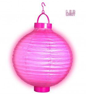 Feestelijke Lampion Met Licht 30cm, Rose