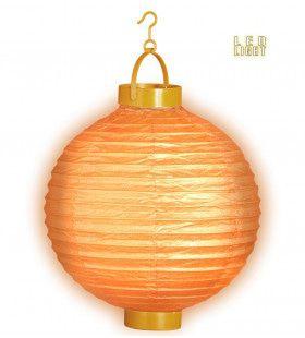 Feestelijke Lampion Met Licht 30 Centimeter Oranje