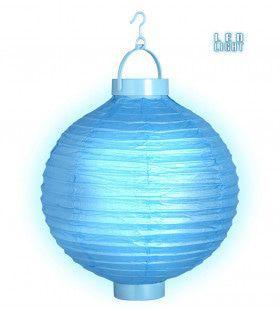 Feestelijke Lampion Met Licht 30cm, Blauw