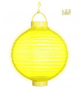 Feestelijke Lampion Met Licht 30cm, Geel