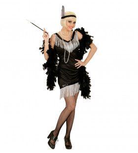 Chicago Flapper Zwart Vrouw Kostuum