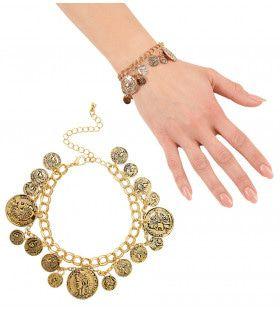 Romeinse Armband Goud Met Muntstukken