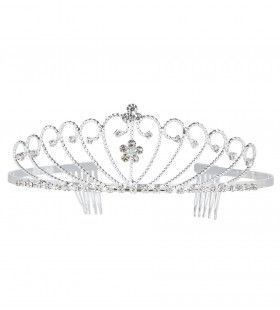 Beauty Queen Tiara Zilver Strass