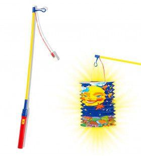 Sint Maarten Lampionstok Met Licht, 50cm