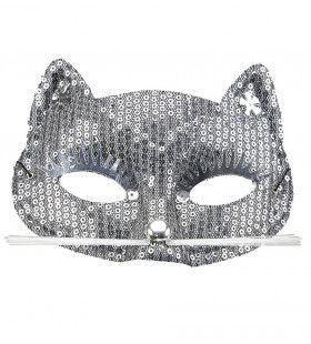 Ms Purrr Oogmasker Kat Met Zilveren Pareltjes