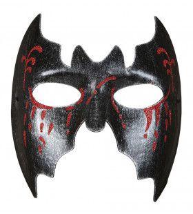 Transsylvanie Masker Vleermuis Met Bloedende Ogen
