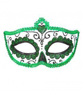 Mexicaans Oogmasker Dia De Los Muertos Zwart & Groen