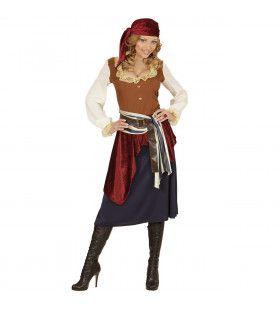 Caraibische Zeerover Zigeunerstyle Vrouw Kostuum