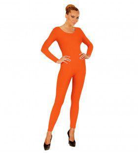 Unicolor Body Volwassen, Lang, Oranje Vrouw Kostuum