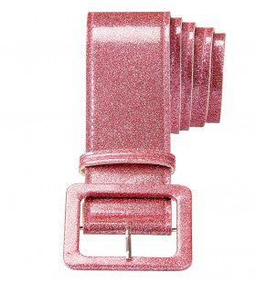 Glamour Riem Glitter 120cm, Rose