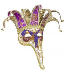 Klassiek Luxe Masker Joker Met Lange Neus