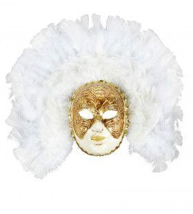 Grimaldi Luxe Fidelio Masker Met Witte Veren
