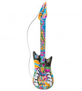 Hippie Opblaasbare Gitaar, Groovy, 105cm