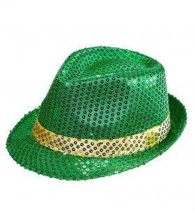 Ierse Fedora Pailletten St. Patrick