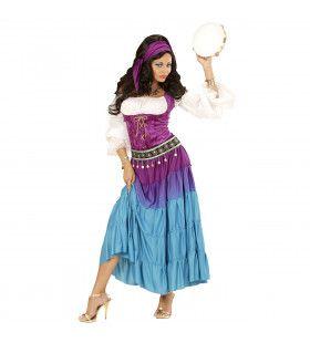 Feestelijke Roma Zigeunerin Vrouw Kostuum