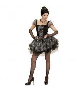 Burlesque Spinnen Dame Vrouw Kostuum