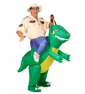 Hilarisch Opblaasbare Dinosaurus Volwassen Kostuum