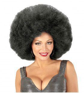 Soul Diva Pruik, Afro Extra Groot Zwart