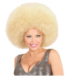 Soul Diva Pruik, Afro Extra Groot Blond