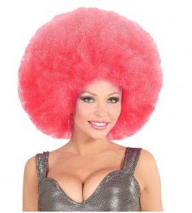 Soul Diva Pruik, Afro Extra Groot Roze